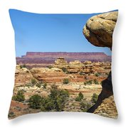 Slickrock Canyon Trail View Throw Pillow