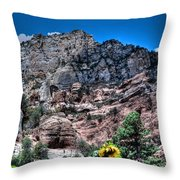 Slide Rock Canyon Throw Pillow