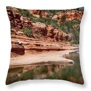 Slide Rock State Park Throw Pillow