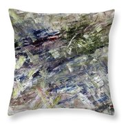 Sliding Away Throw Pillow