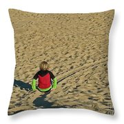 Sliding Path Throw Pillow