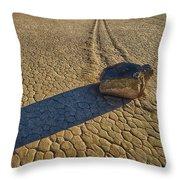 Sliding Rock Of Racetrack Playa Throw Pillow