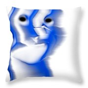 Slight Grin Throw Pillow