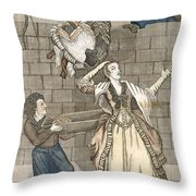 Slight Of Hand By A Monkey Or The Ladys Throw Pillow