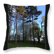 Slim Trees Throw Pillow