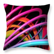 Slinky Craze 2 Throw Pillow