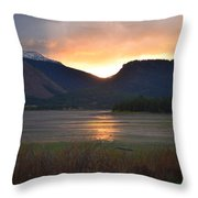 Slipping Into The Night Throw Pillow