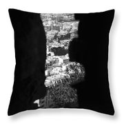 Sliver Rock Throw Pillow