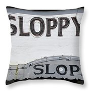 Sloppy Joes Key West Throw Pillow