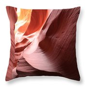 Slot Canyon Color Blend Throw Pillow
