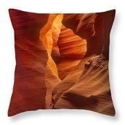 Slot Canyon Detail Corkscrew Or Upper Antelope Slot Canyon Arizona Throw Pillow