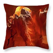 Slot Canyon Formations In Upper Antelope Canyon Arizona Throw Pillow