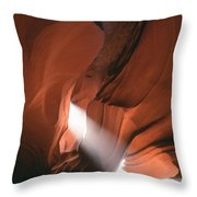 Antelope Canyon Sunbeam Throw Pillow