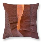 Slot In Palo Duro Canyon 110213.45 Throw Pillow
