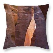 Slot In Palo Duro Canyon 110213.61 Throw Pillow