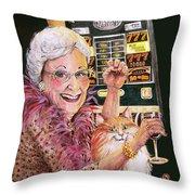 Slot Machine Queen Throw Pillow
