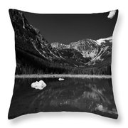 Slough Lake 3 Bw Throw Pillow by Roger Snyder