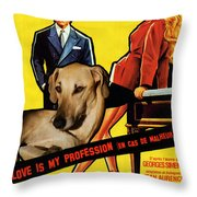 Sloughi Art - Love Is My Profession Movie Poster Throw Pillow