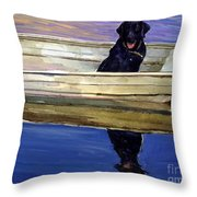 Slow Boat Throw Pillow