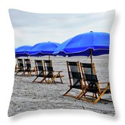 Slow Day At The  Beach Throw Pillow
