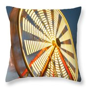 Slow Down The Ferris Wheel Throw Pillow