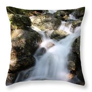 Slow Shutter Waterfall Scotland Throw Pillow