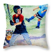 Slugger And Kicker Throw Pillow