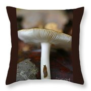 Slugs And Mushrooms Throw Pillow
