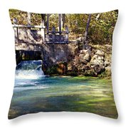 Sluice Gate At Alley Spring Throw Pillow