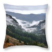 Sly Fog Dance Throw Pillow