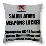 Small Arms Signage Russian Submarine Throw Pillow