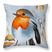 Small Bird Throw Pillow