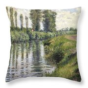 Small Branch Of The Seine At Argenteuil Throw Pillow