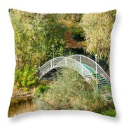 Small Bridge In The Park Throw Pillow