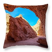 Small Canyon In Chile Throw Pillow