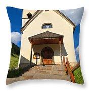 small church in Penia Throw Pillow