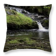 Small Falls On West Beaver Creek Throw Pillow