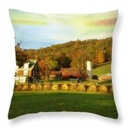 Small Farm Throw Pillow