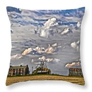 Small Farms Fading Fast Throw Pillow