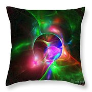 Small Flower Under Magnifying Glass Throw Pillow