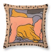 Small Framed Bedscape One Am Throw Pillow