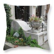 Small Garden In Big City Throw Pillow