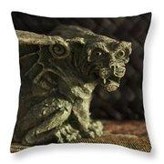 Small Gargoyle Or Grotesque Throw Pillow