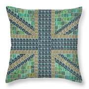 Small Green Flag Throw Pillow