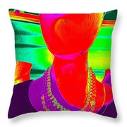 Small Headed Throw Pillow