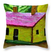 Small-house- Painting Throw Pillow