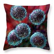Small Lymphocytes Throw Pillow