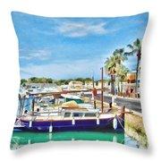 Small Marina Throw Pillow
