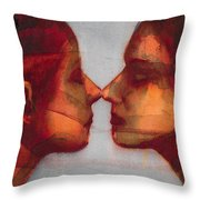 Small Mirror Twin Throw Pillow by Graham Dean