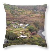 Small North Maui Town Throw Pillow